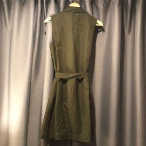 Banana Republic Dresses - Banana Republic • Army green linen • shift dress 8